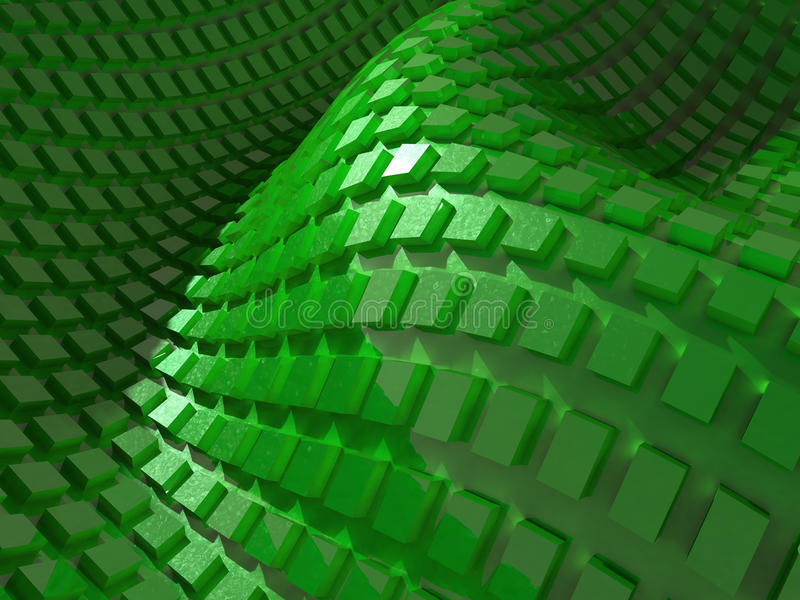 Abstract wavy green background stock photos