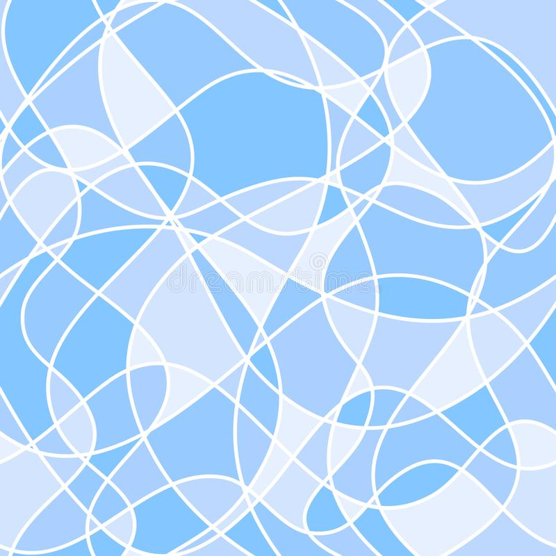 Abstract wavy shapes. vector seamless pattern. blue background. vector illustration