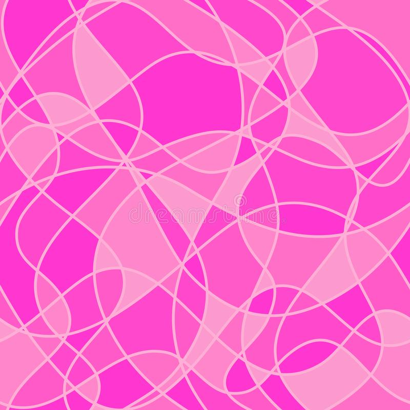 Abstract wavy shapes. vector seamless pattern. pink background. stock illustration