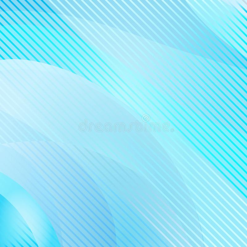 Abstract wavy and striped background, blue color. Vector royalty free illustration