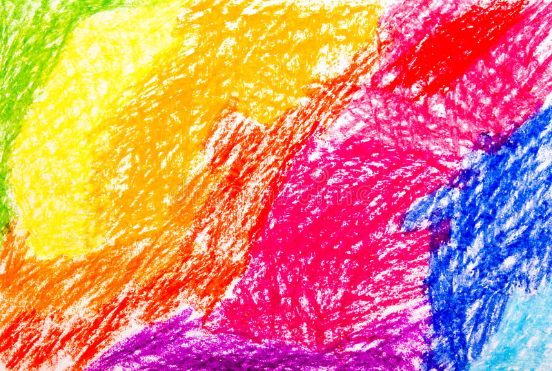 Abstract wax crayon hand drawing stock illustration for Drawing on wax paper