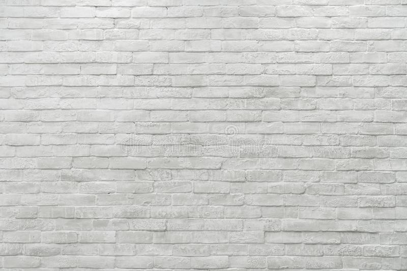 Abstract weathered textured white brick wall background royalty free stock images