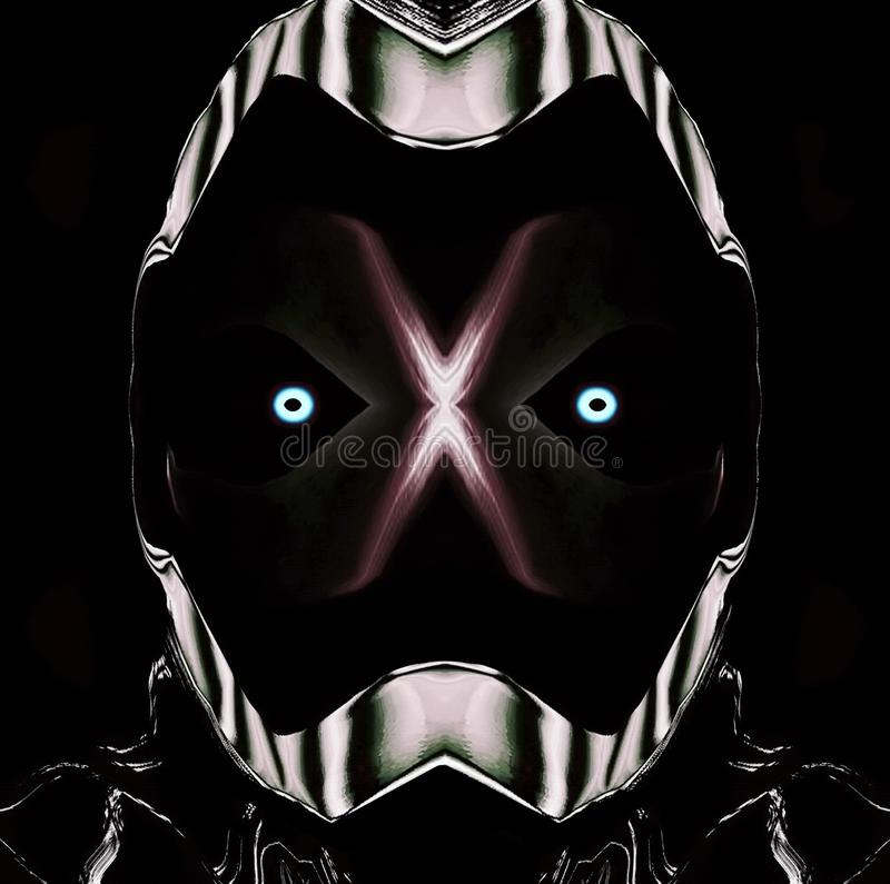 Abstract Background or Wallpaper: Zebra Striped Wrestling Mask. Abstract web or background image of a large belligerent man wearing a zebra striped referee vector illustration