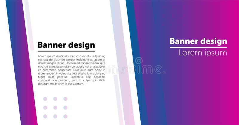 Abstract Web banner design background or header Templates. royalty free illustration