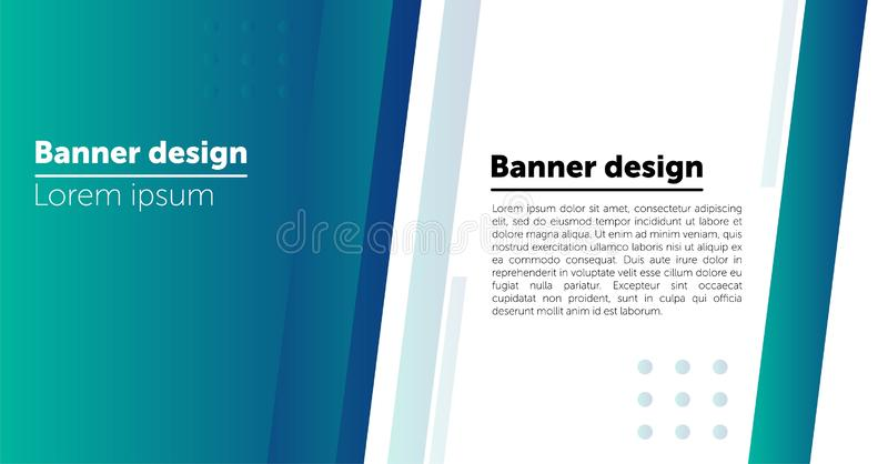 Abstract Web banner design background or header Templates. stock illustration
