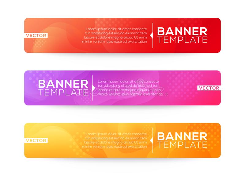 Abstract Web banner design background or header Templates. Fluid gradient shapes composition with colorful bright colors. Background vector illustration