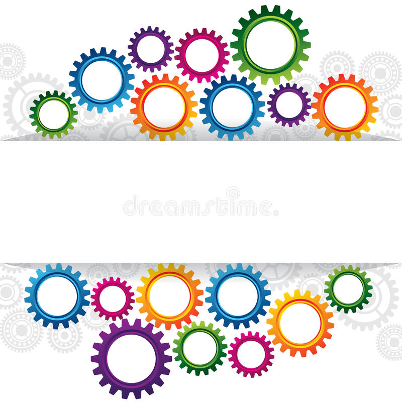 Download Abstract Web Design With Copy Space In Cog Wheel Stock Vector - Illustration of construction, mechanical: 34739350