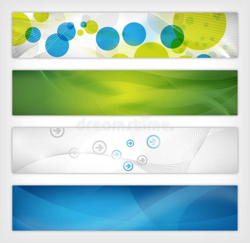 Abstract website header stock illustration