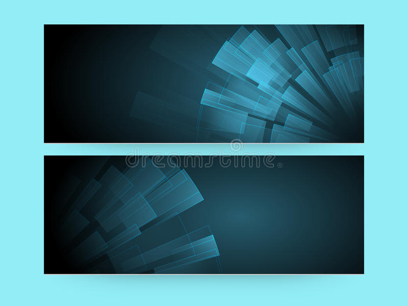 Abstract website header or banner set. royalty free illustration