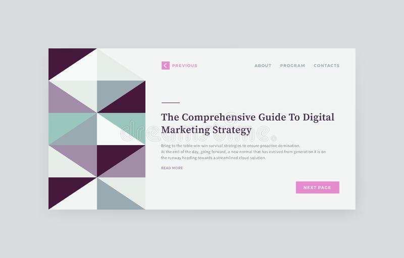 Abstract Website Presentation Layout vector illustration