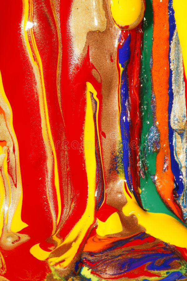 Abstract wet and dry paints stock image