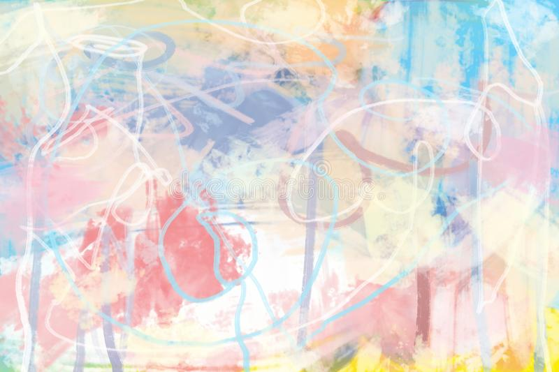 Colourful oil paint abstract modern art royalty free illustration