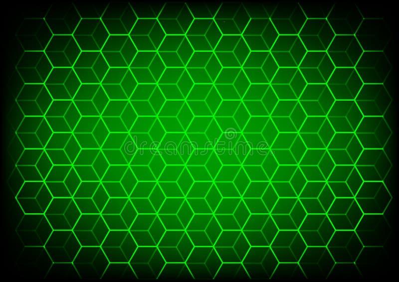Abstract wetenschap en technologieconcept met hexagonale elementenachtergrond royalty-vrije illustratie