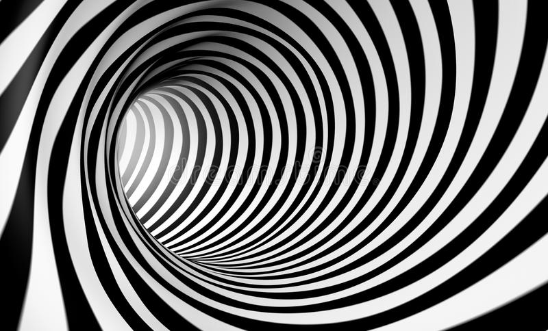 Abstract whirl. 3d abstract spiral background in black and white