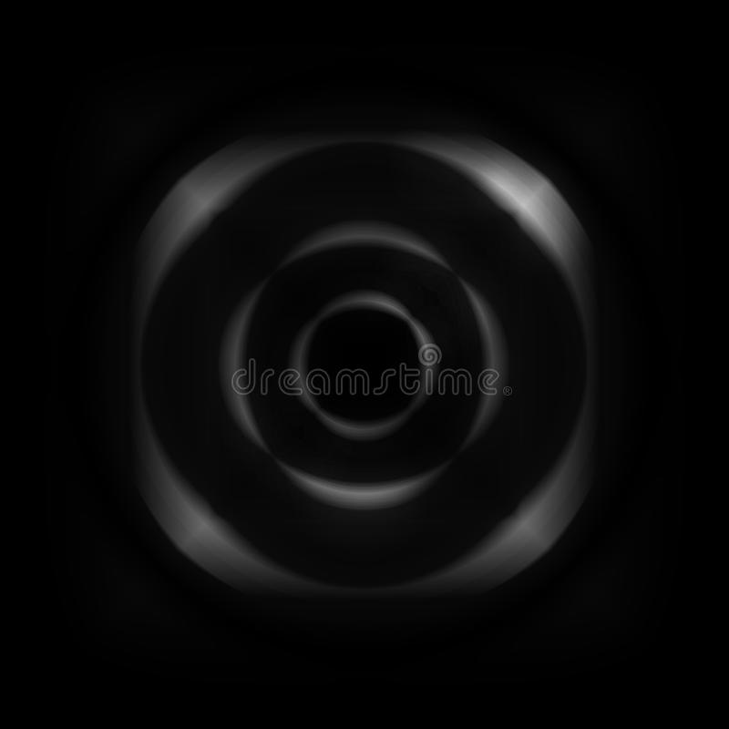Abstract white aperture lens on black background.  vector illustration