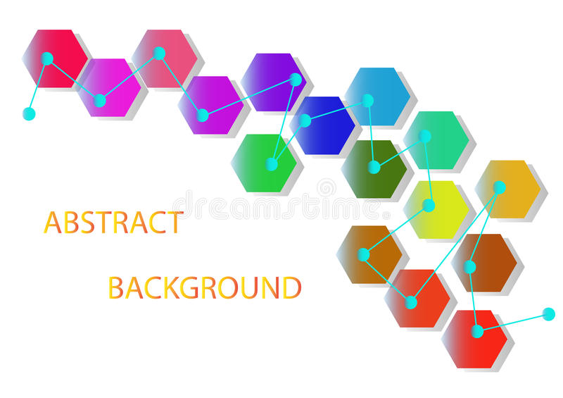 Abstract white background with hexagons vector illustration