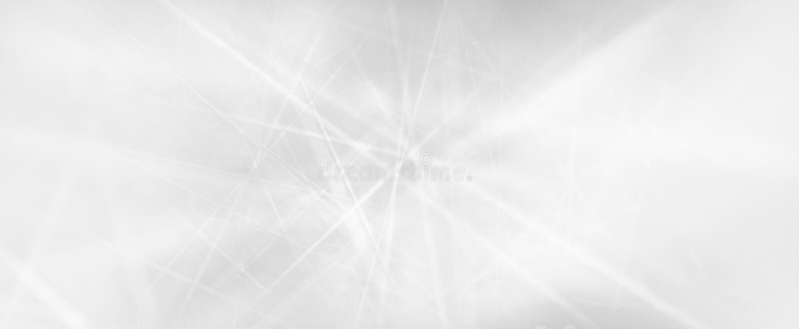 Abstract white background with laser beam stripes or digital communication lines in technology concept design.  Blurred beams of l stock photo