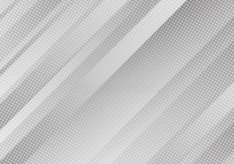 Abstract White Background with Stripes and Dots. Vector Minimal Banner. Grey Colored Sleek Texture for Banners . Abstract White Background with Stripes and Dots stock illustration