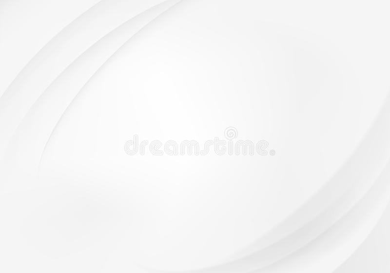 Abstract white background with waves royalty free illustration