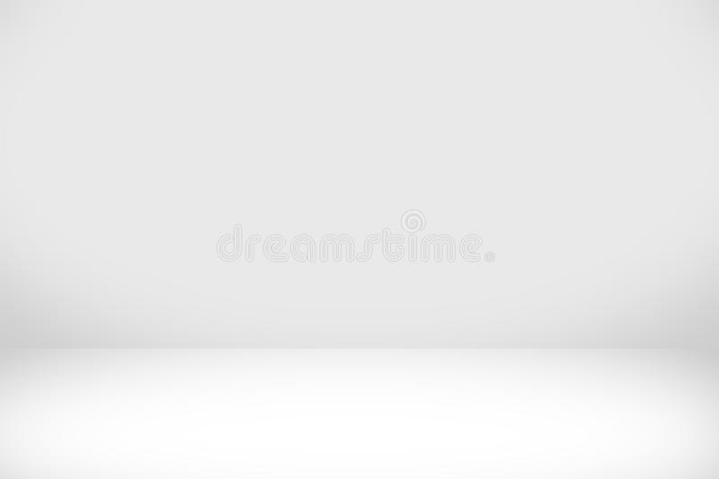 Abstract white background with white light and grey shadow royalty free illustration
