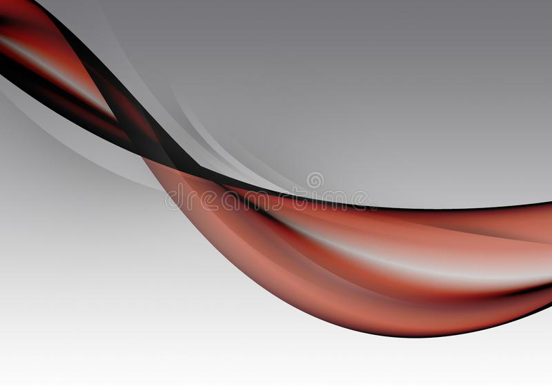 Abstract white, black and and red background waves. Bright abstract background.  stock illustration