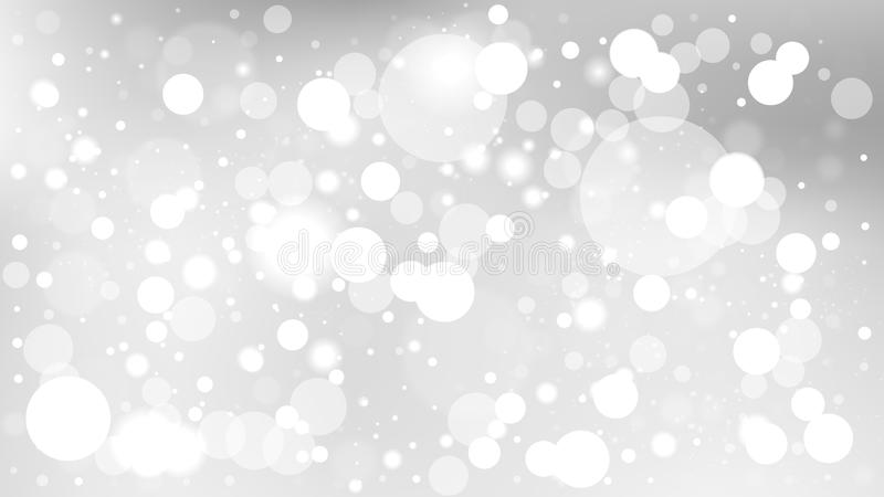 Abstract White Blur Lights Background royalty free illustration