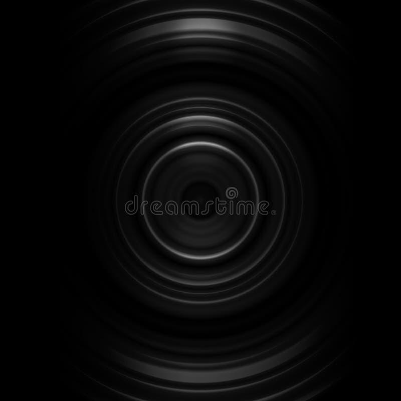Abstract white camera lens shutter on black background stock illustration