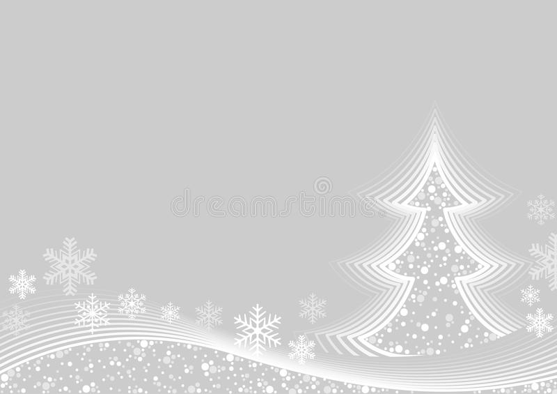 Abstract White Christmas Greeting vector illustration