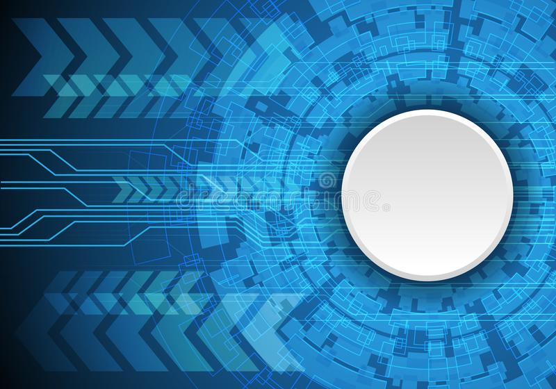Abstract white circle blank on blue technology design modern futuristic background vector vector illustration