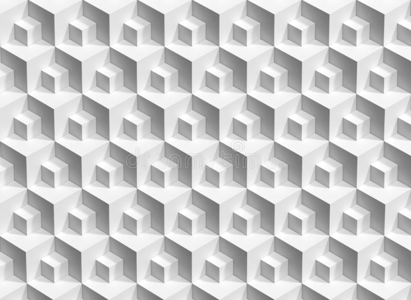 Abstract white cubes background, 3d render stock photos