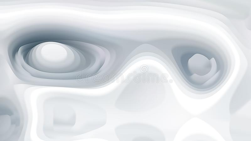 Abstract White Curvature Ripple Background Image Beautiful elegant Illustration graphic art design Background. Image stock illustration