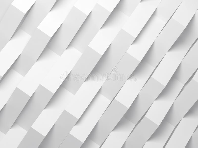 Abstract white digital background, 3d stock illustration