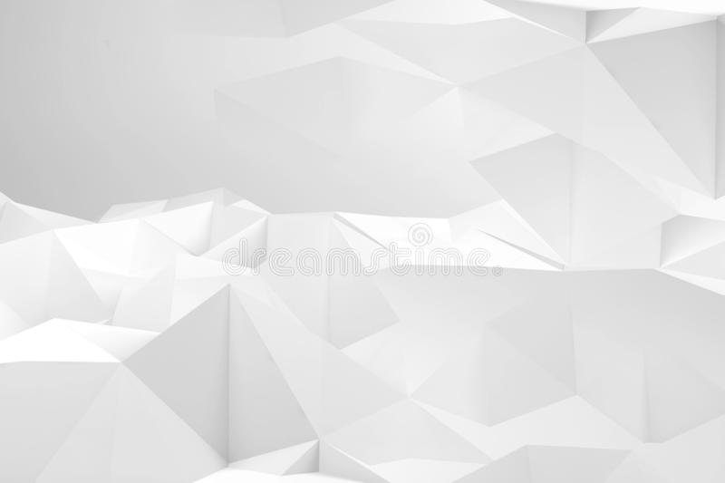 Abstract white digital background texture 3d royalty free illustration