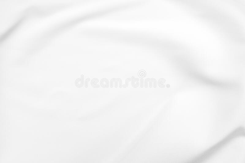 Abstract white fabric texture background. Cloth soft wave. Creases of satin, silk, and cotton. royalty free stock photo
