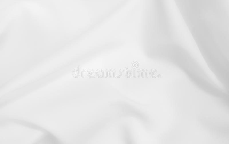 Abstract white fabric texture background. Cloth soft wave. Creases of satin, silk, and cotton. stock photos