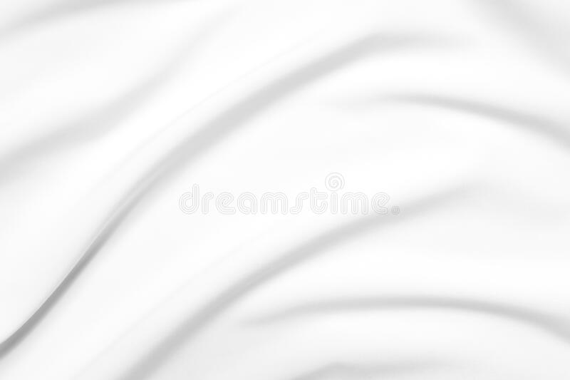 Abstract white fabric texture background. Cloth soft wave. Creases of satin, silk, and cotton. stock images