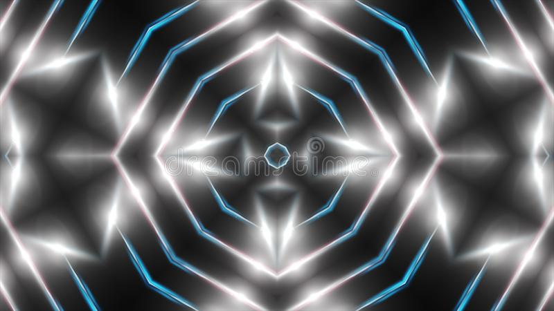 Abstract white fractal lights, 3d rendering backdrop, computer generating background.  royalty free illustration