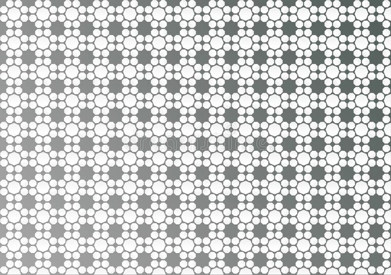 Abstract White Geometric Floral Texture in Grey Background stock photography