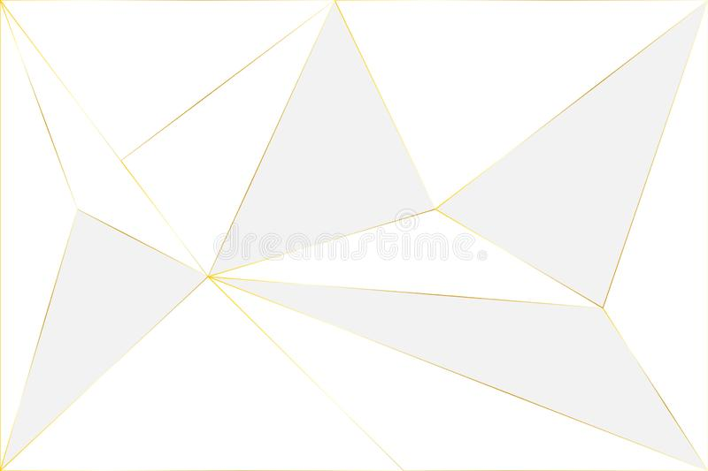 Abstract White And Gold Luxury Background Stock Vector