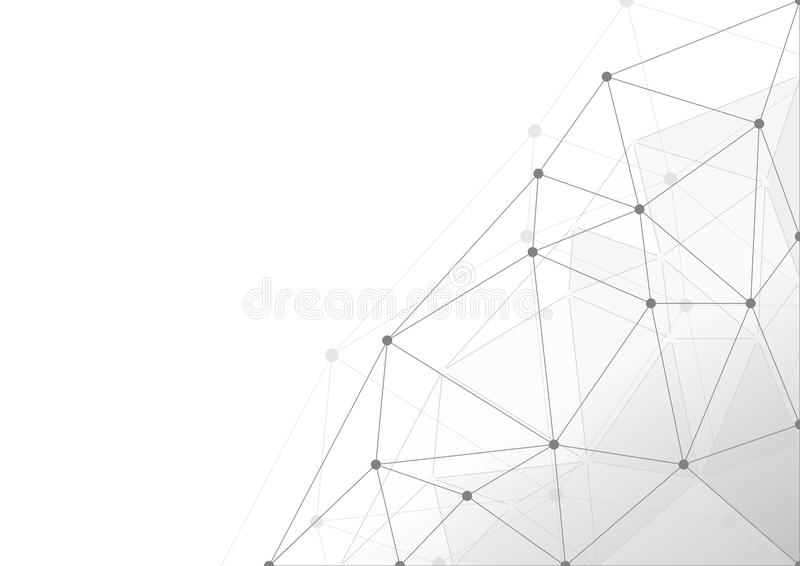 Abstract White and gray color clean geometrical shapes technology modern background vector Illustration stock illustration