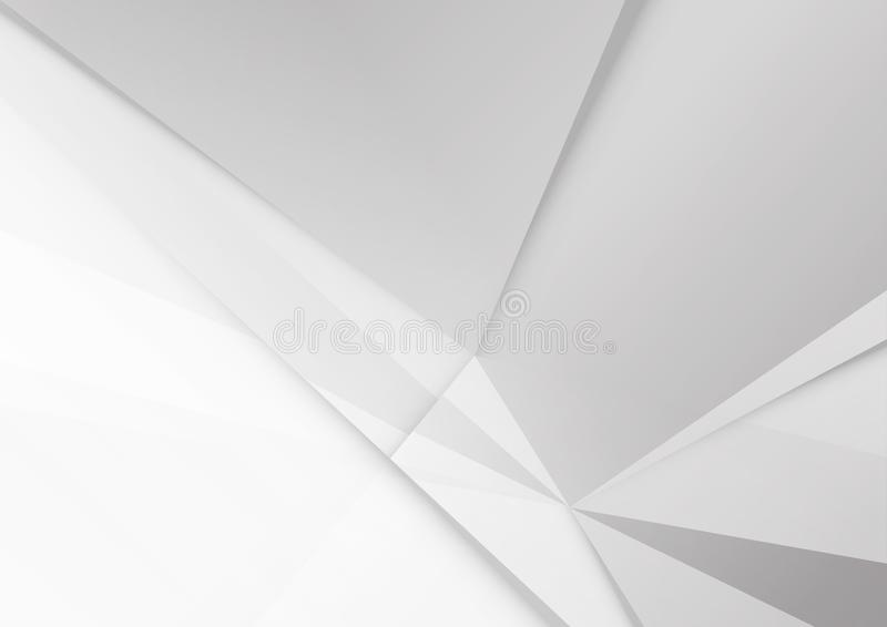 Abstract White and gray color technology modern background design vector Illustration stock illustration