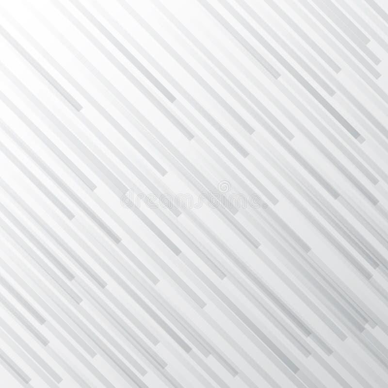 Abstract white and gray gradient stripe diagonal line background. Monochrome elegant geometric backdrop stock illustration