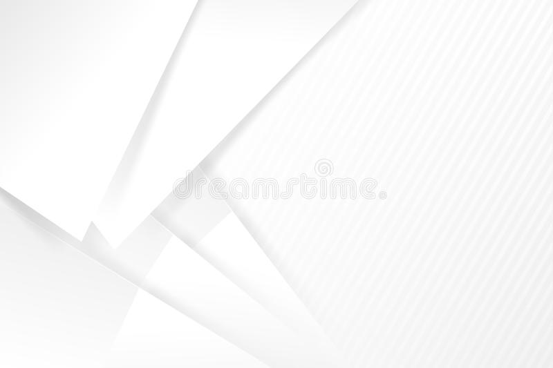Abstract white and grey background basic geometry overlaps with. Shadow illustration eps 10 vector illustration