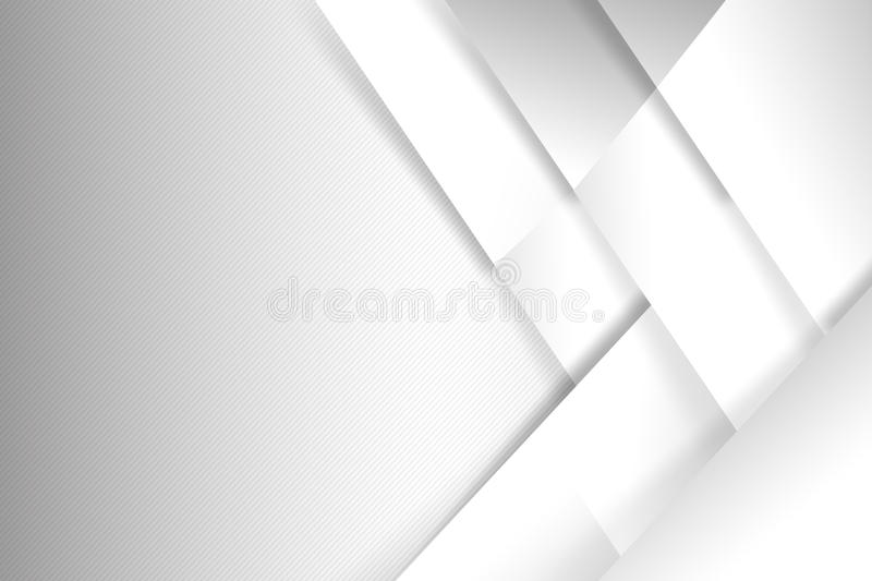 Abstract white and grey background basic geometry overlaps. With shadow illustration eps 10 stock illustration