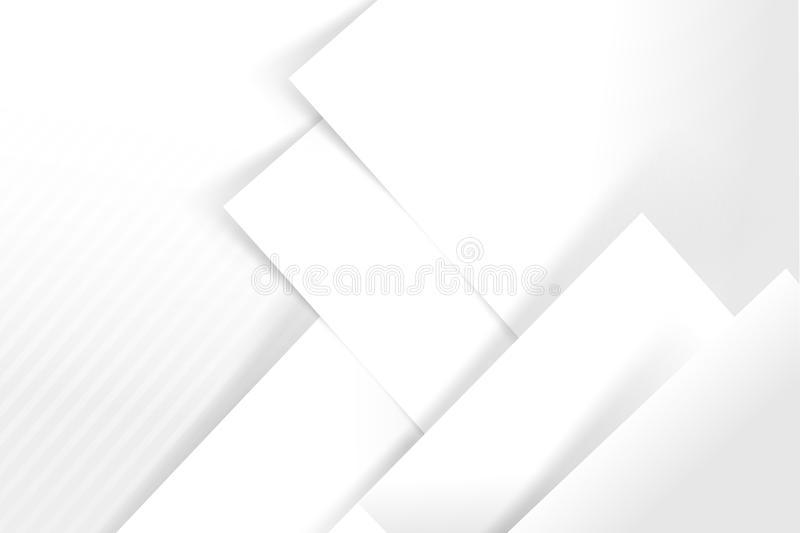 Abstract white and grey background basic geometry overlaps with. Shadow vector illustration eps 10 stock illustration