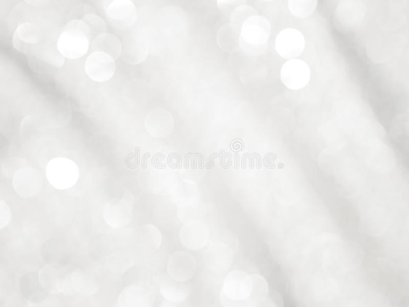 Abstract white and grey background with bokeh. And wave pattern stock illustration