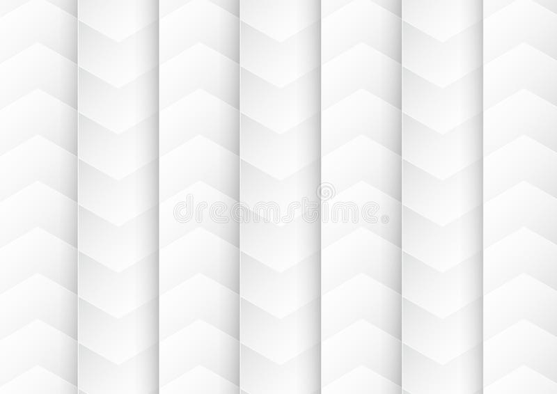 Abstract white and grey background for template, cover, web banner. Flat polygon design with shadow. vector illustration