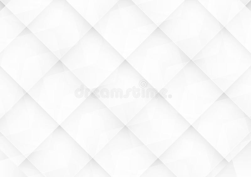 Abstract white and grey background for template, cover, web banner. Flat polygon design with shadow. royalty free illustration