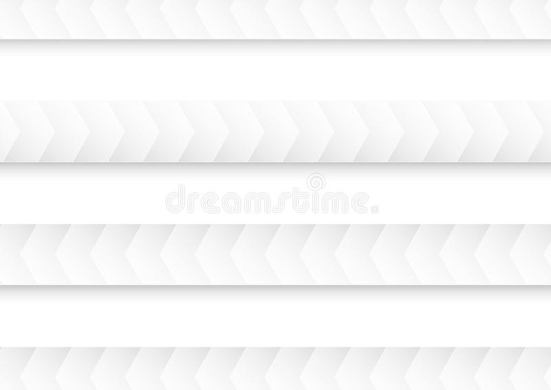 Abstract white and grey background for template, cover, web banner. Flat polygon design with shadow. stock illustration