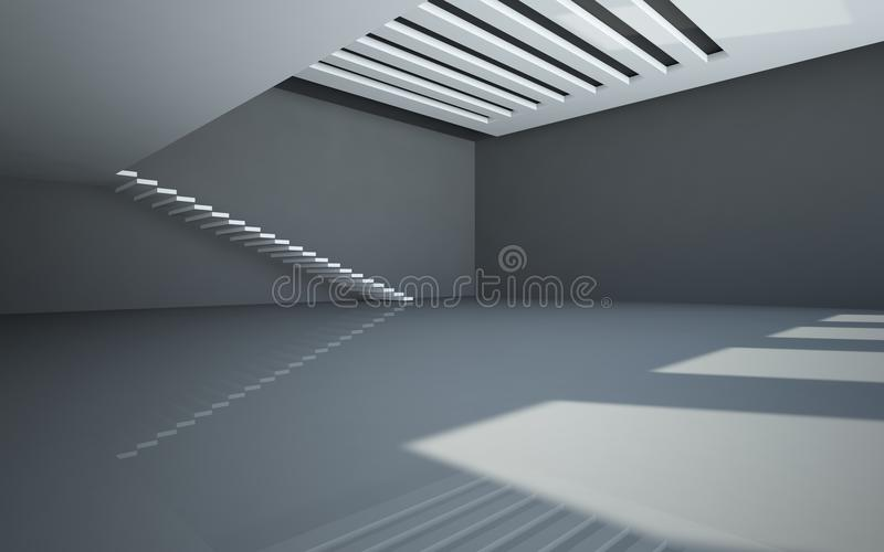 Download Abstract White Interior With Balcony Stock Illustration - Image: 25433765